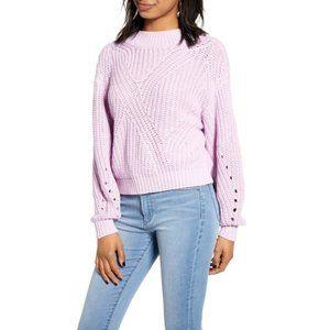 Bp. Lavender Purple Traveling Stitch Sweater Sz XS